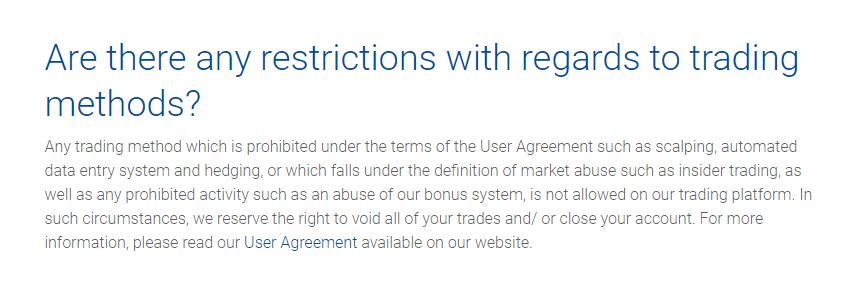 PLus500 Restrictions
