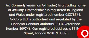 Axi Regulation