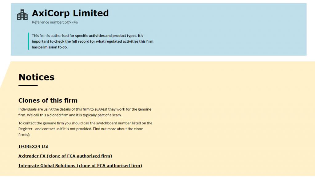 AxiTrader-FCA-Entry